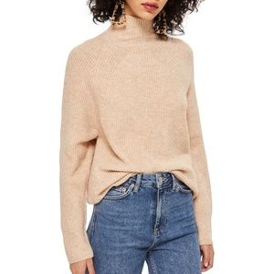 Topshop Oatmeal Turtleneck Sweater Small 6